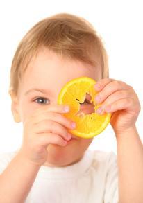 baby with orange 2